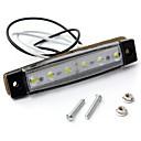 ieftine Lumini de Mașină Spate-sencart 4pcs alb marcator de margine clearance-ul lumina oval crom 6 led 12v