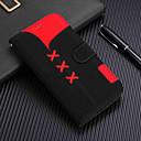 رخيصةأون أغطية أيفون-الحال بالنسبة لتفاح iphone xr / iphone xs max المغناطيسي / مع حامل / صدمات كامل الجسم الحالات نمط هندسي الصلب بو الجلود لفون x / xs / 8 زائد / 8/7 زائد / 7/6/6 ثانية زائد