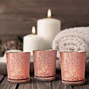 cheap Candles & Candleholders-Modern Contemporary / Simple Style Glasses / Glass Candle Holders Votive / Candelabra 12pcs, Candle / Candle Holder