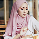 رخيصةأون أوشحة نسائية-حجاب لون سادة نسائي أساسي