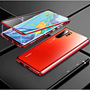 abordables Etuis / Couvertures pour Huawei-magnéto magnétique adsorption étui en verre métallique pour huawei p30 pro p30 lite p30 dos cas couvrir pour huawei p20 pro p20 lite p20