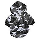 povoljno Odjeća za psa i dodaci-Psi Hoodies Sportska majica Odjeća za psa Crn Kostim Dalmatiner korgi Bigl Tekstil Runo Maskirni Simple Style Casual / sportski XS S M L