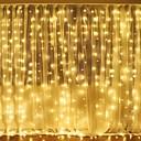 رخيصةأون أضواء شريط LED-3mx2m 240led أبيض / دافئ أبيض / متعدد الألوان ضوء رومانسية عيد الميلاد في الهواء الطلق الزفاف الديكور الستار سلسلة الخفيفة