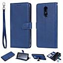 رخيصةأون LG أغطية / كفرات-غطاء من أجل LG LG X Power / LG V30 / LG V20 محفظة / حامل البطاقات / مع حامل غطاء كامل للجسم لون سادة قاسي جلد PU