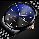 ieftine Ceasuri Bărbați-Bărbați Oțel Inoxidabil Quartz Stl Oțel inoxidabil Negru / Auriu Rezistent la Apă Calendar Model nou Analog Modă - Negru Negru / Alb Negru / Albastru