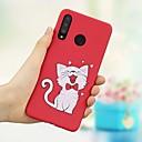 رخيصةأون Huawei أغطية / كفرات-غطاء من أجل Huawei هواوي نوفا 4 / هواوي نوفا 4e / Huawei P20 ضد الصدمات / مثلج / نموذج غطاء خلفي قطة ناعم TPU