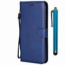 رخيصةأون Sony أغطية / كفرات-غطاء من أجل Sony سوني اريكسون L3 / Xperia XZ2 / Xperia XZ2 Compact محفظة / حامل البطاقات / مع حامل غطاء كامل للجسم لون سادة جلد PU / TPU