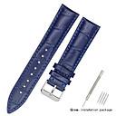 voordelige Horlogebandjes-aitoa nahkaa / Leder / Kalfshaar Horlogeband Band voor Zwart / Wit / Blauw Andere / 17cm / 6.69 inch / 19cm / 7.48 Inch 1.2cm / 0.47 Inch / 1.3cm / 0.5 Inch / 1.4cm / 0.55 Inch