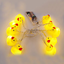 ieftine LED-uri-2m Fâșii de Iluminat 10 LED-uri 1set Alb Cald Decorativ 5 V