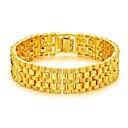 billiga Halsband-Herr Kedje & Länk Armband Trendig Kreativ Mode Dubai 18K Guld Armband Smycken Guld Till Party Dagligen