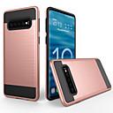رخيصةأون حافظات / جرابات هواتف جالكسي S-غطاء من أجل Samsung Galaxy Galaxy S10 ضد الغبار / مثلج غطاء خلفي لون سادة الكمبيوتر الشخصي