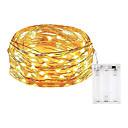 povoljno LED svjetla u traci-10m Žice sa svjetlima 100 LED diode SMD 0603 Toplo bijelo / Bijela / Više boja Vodootporno / Party / Ukrasno Baterije su pogonjene 1pc