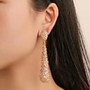 povoljno Naušnice-Žene Viseće naušnice Naušnica Skulptura Ispustiti Jednostavan Moda Moderna Naušnice Jewelry Rose Gold / Zlato / Srebro Za Party Dnevno Ulica Rad 1 par