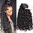 povoljno Ekstenzije za kosu-4 paketića Brazilska kosa Water Wave Virgin kosa Remy kosa Ljudske kose plete Produžetak Bundle kose 8-28 inch Prirodna boja Isprepliće ljudske kose Odor Free Nježno Moda Proširenja ljudske kose