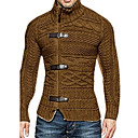 povoljno Muški džemperi i kardigani-Muškarci Jednobojni Dugih rukava Veličina EU / SAD Kardigan Džemper od džempera Crn / Obala / Braon US32 / UK32 / EU40 / US34 / UK34 / EU42 / US36 / UK36 / EU44