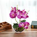 povoljno Umjetno cvijeće-umjetni cvjetovi phalaenopsis bonsai s kreativnim ukrasima za dom