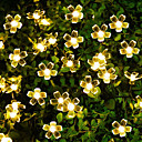 povoljno LED svjetla u traci-7m trešnja cvijet niz svjetla 50 leds toplo bijelo / bijeli festival unutarnji ukras na otvorenom dvorište rasvjeta dekorativni solarni pogon 1 set