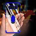 voordelige Galaxy S7 Edge Hoesjes / covers-plating zachte tpu transparante anti-shock case voor samsung galaxy s10 plus s10 s10 5 g s10 e s9 plus s9 s8 plus s8 s7 rand s7 case vinger ring cover