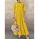 povoljno Naušnice-Žene Swing kroj Haljina Na točkice Maxi