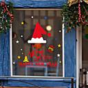 رخيصةأون الستائر-نافذة فيلم الكرتون عيد الميلاد&amp؛ amp؛ amp ملصقات الديكور الحيوان / عطلة نمط / شخصية / هندسية pvc (بولي فينيل كلوريد) ملصقا نافذة