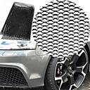 رخيصةأون جسم السيارة الديكور والحماية-سيارة سوداء سبائك الألومنيوم النورس المصد الأمامي شكل الهواء مدخل شبكة شواء ورقة (8x25 ملليمتر)