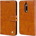 رخيصةأون Nokia أغطية / كفرات-غطاء من أجل نوكيا Nokia 5 حامل البطاقات / قلب غطاء كامل للجسم لون سادة قاسي جلد PU