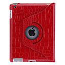 voordelige Galaxy J3 Hoesjes / covers-hoesje Voor Apple iPad 4/3/2 360° rotatie / met standaard / Patroon Volledig hoesje Effen / Camouflage Kleur PU-nahka