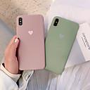 رخيصةأون أقراط-غطاء من أجل Apple iPhone XS / iPhone XR / iPhone XS Max ضد الصدمات / مثلج غطاء خلفي لون سادة / قلب ناعم TPU