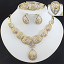 povoljno Komplet nakita-Žene Zlato Svadbeni nakit Setovi Poveznica / lanac Teardrop Vintage Naušnice Jewelry Zlato Za Vjenčanje Angažman Dar 1set