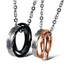 ieftine Inele-Bărbați Pentru femei Coliere cu Pandativ Clasic Binecuvântat Modă Oțel titan Negru Roz auriu 50 cm Coliere Bijuterii 1 buc Pentru Zilnic Promisiune