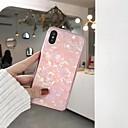 رخيصةأون أغطية أيفون-غطاء من أجل Apple iPhone X / iPhone 8 Plus / iPhone 8 تصفيح / مرآة غطاء خلفي نموذج هندسي قاسي زجاج مقوى