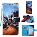 رخيصةأون حافظات / جرابات هواتف جالكسي S-غطاء من أجل Samsung Galaxy S9 / S9 Plus / S8 Plus محفظة / حامل البطاقات / مع حامل غطاء كامل للجسم قطة قاسي جلد PU