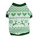 ieftine Imbracaminte & Accesorii Căței-Câini Tricou Γιλέκο Îmbrăcăminte Câini Verde Costume Dalmațian Corgi Beagle Bumbac Geometric Geometic Crăciun Casul / Zilnic stil minimalist XS S M L