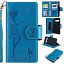 رخيصةأون أقراط-غطاء من أجل Samsung Galaxy S9 / S9 Plus / S8 Plus محفظة / حامل البطاقات / مع حامل غطاء كامل للجسم قطة / امرآة مثيرة قاسي جلد PU
