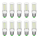 ieftine Frontale-10pcs 6 W Becuri LED Corn 3000 lm G9 B22 E12 / E14 T 36 LED-uri de margele SMD 5730 Alb Cald Alb 220 V 110 V