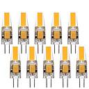 povoljno LED klipaste žarulje-10pcs 3 W LED svjetla s dvije iglice 290 lm G4 1 LED zrnca COB Ukrasno Lijep Toplo bijelo Hladno bijelo 12 V