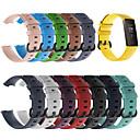 povoljno Remenje za Fitbit satove-silikonski sportski zamjenski satovi traka za nošenje oko zgloba za fitbit punjenje 3 fitbit charge3 pametna narukvica za zapešće