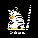 رخيصةأون جسم السيارة الديكور والحماية-الرسوم المتحركة مضحك ذيل القط ملصقات ملصقات عاكسة سيارة deacals