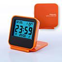 ieftine ceasuri-Dongguan ph107064p563 mini portabil clamshell de călătorie electronic ceas cu alarmă led de noapte: portocaliu