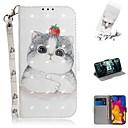 رخيصةأون LG أغطية / كفرات-القضية ل lg v40 thinq / lg stylo 5 / lg g8 thinq محفظة / حامل البطاقة / صدمات كامل الجسم الحالات جميل القط بو الجلود