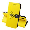 رخيصةأون أغطية أيفون-حالة لتفاح iphone xr iphone xs max حالة الهاتف بو الجلود المواد النحل نمط بلون حالة الهاتف آيفون xs x 7 8 7 زائد 8 زائد 6 6 ثانية 6 زائد 6 ثانية زائد 5 5 ثانية se