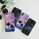 رخيصةأون أغطية أيفون-غطاء من أجل Apple iPhone X / iPhone 8 Plus / iPhone 8 ضد الغبار / نموذج غطاء خلفي منظر / كارتون / شجرة جل السيليكا