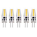 povoljno Svjetlosne šipke-5pcs 3 W LED svjetla s dvije iglice 300 lm G4 T 10 LED zrnca SMD 2835 Toplo bijelo Bijela 12 V