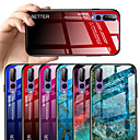 voordelige Huawei Y-serie hoesjes / covers-hoesje Voor Huawei Huawei P20 / Huawei P20 Pro / Huawei P20 lite Patroon Achterkant Marmer / Kleurgradatie Hard Gehard glas