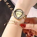 رخيصةأون ساعات النساء-سوار السيدات soxy يشاهد الذهب والفضة السوداء ثلاثية الألوان غير النظامية تصميم أنيق اللباس ووتش