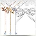 رخيصةأون قلادات-نسائي قلادات ضيقة نحاس ذهبي أبيض ذهبي روزي 45 cm قلادة مجوهرات 1PC من أجل عيد الميلاد زفاف خطوبة مهرجان