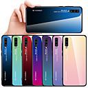 رخيصةأون حافظات / جرابات هواتف جالكسي A-غطاء من أجل Samsung Galaxy A6 (2018) / A6+ (2018) / Galaxy A7(2018) ضد الصدمات غطاء خلفي لون متغاير قاسي TPU / زجاج مقوى