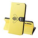 رخيصةأون حافظات / جرابات هواتف جالكسي A-غطاء من أجل Samsung Galaxy A5(2018) / A6 (2018) / A6+ (2018) محفظة / حامل البطاقات / ضد الصدمات غطاء كامل للجسم لون سادة / حيوان قاسي جلد PU
