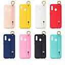 رخيصةأون حافظات / جرابات هواتف جالكسي A-غطاء من أجل Samsung Galaxy A6 (2018) / A6+ (2018) / Galaxy A7(2018) مع حامل / مثلج غطاء خلفي لون سادة TPU