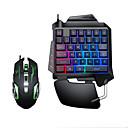 رخيصةأون بادة ماوس الكمبيوتر-litbest usb السلكية لوحة مفاتيح الألعاب بيد واحدة مفاتيح مضيئة الخلفية مع أضواء التنفس المعصم مجموعات الماوس 2 قطعة مجموعة